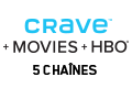 Logo Crave+Movies+HBO