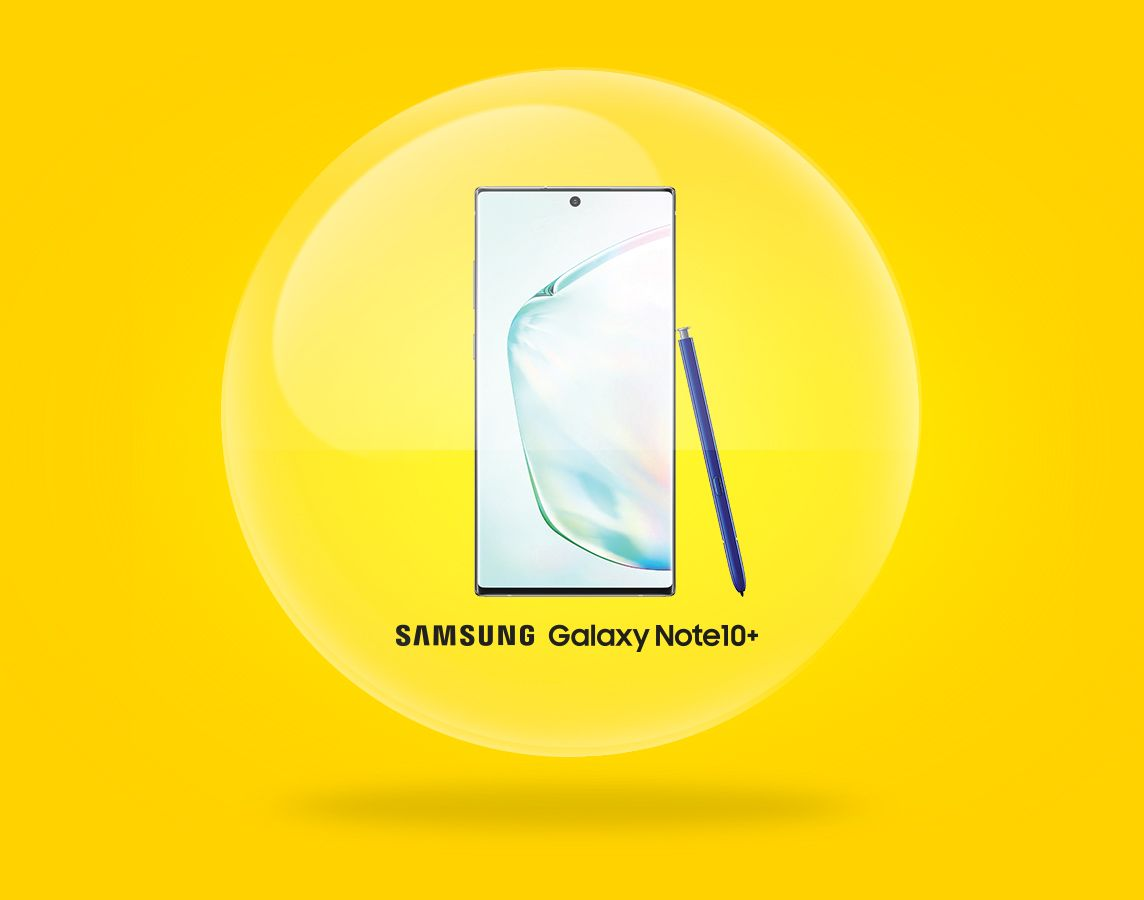 With the purchase of a Galaxy Note10+ with a 24-month agreement.