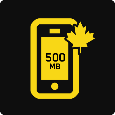 Quebec 500MB Business Mobile plan