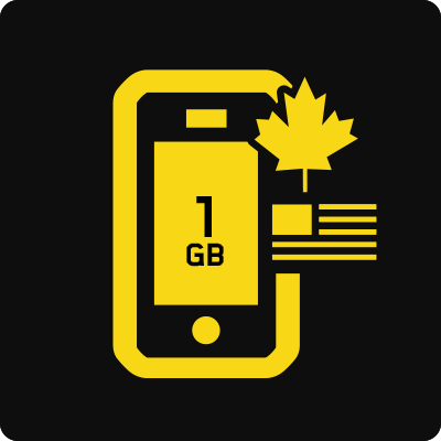 Canada–US 1GB Business Mobile plan