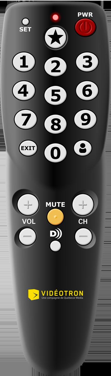 Télécommande simplifiée