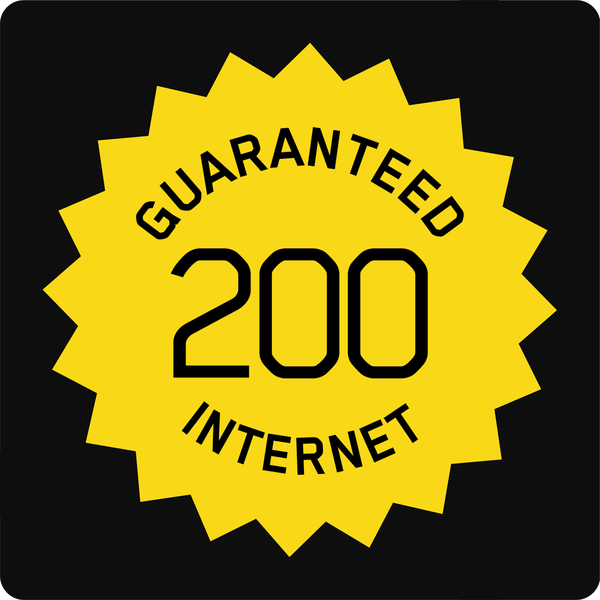 200/50 Guaranteed Internet Access
