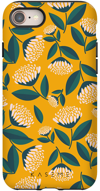 Étui iPhone 11 Kaseme Tough Motif Flos Jaune - Moyenne