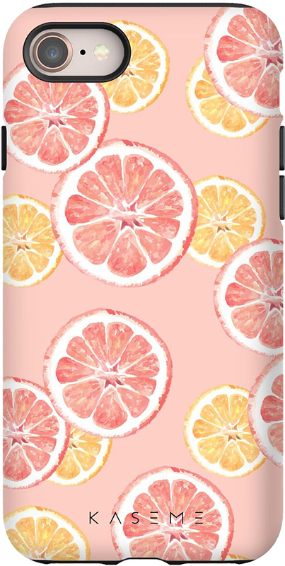 Étui iPhone 11 Pro Kaseme Tough Motif Lemonade Rose - Moyenne