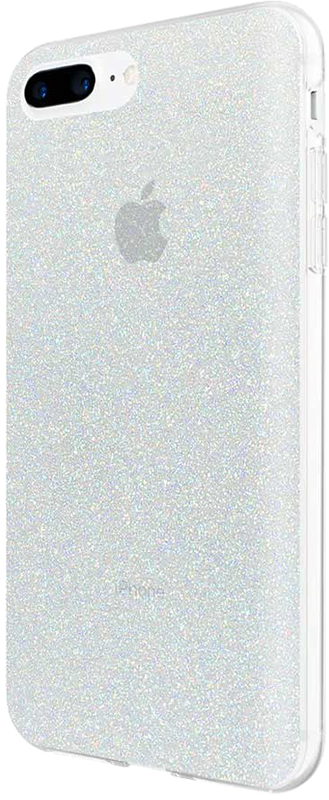 Design Series iPhone 6S/7/8 Plus case - Iridescent White Glitter - Moyenne