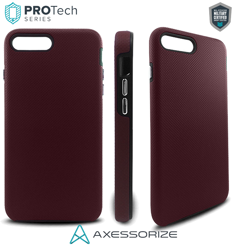 ProTech iPhone 7/8 Plus case - Burgundy Red - Moyenne