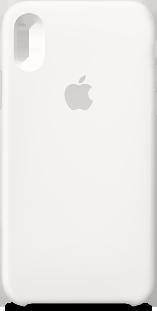 pretty nice b116e 5e3d2 iPhone XS Apple Silicone Case White