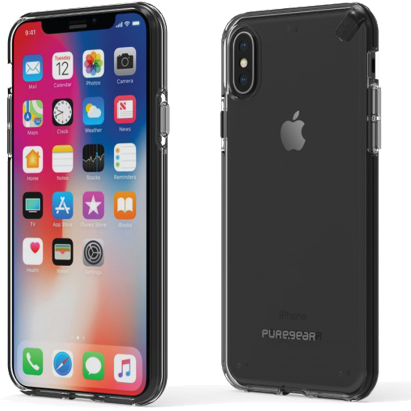Étui iPhone XS PureGear Slim Shell Transparent - Moyenne