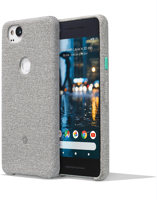 Case Fabric Cement Google Pixel 2 XL - Moyenne