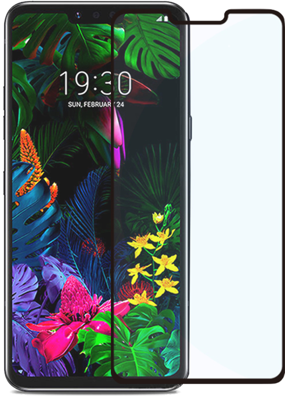 Protecteur d'écran LG G8 ThinQ PureGear Tempered Glass Transparent Transparent - Moyenne