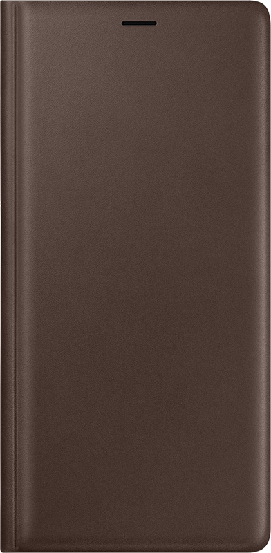 Leather Flip Cover Marron Samsung Galaxy Note 9 - Moyenne