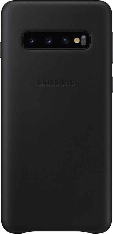 Étui Samsung Galaxy S10 Samsung Leather Cover Noir - Moyenne