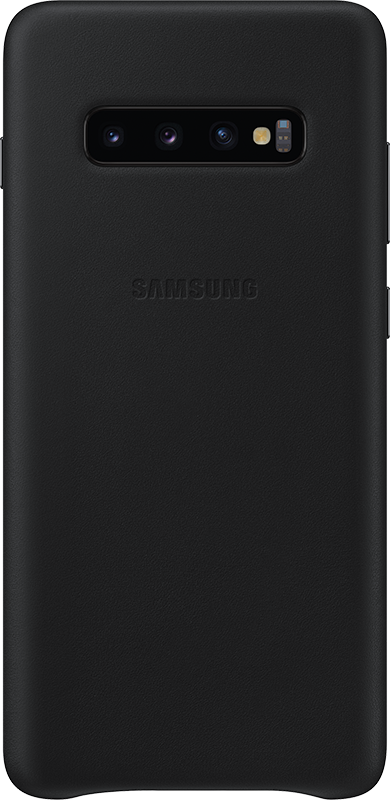Étui Samsung Galaxy S10 + Samsung Leather Cover Noir - Moyenne