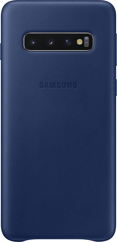 Étui Samsung Galaxy S10 + Samsung Leather Cover Bleu - Moyenne