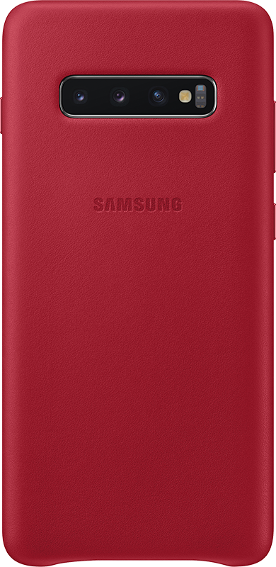 Étui Samsung Galaxy S10 + Samsung Leather Cover Rouge - Moyenne