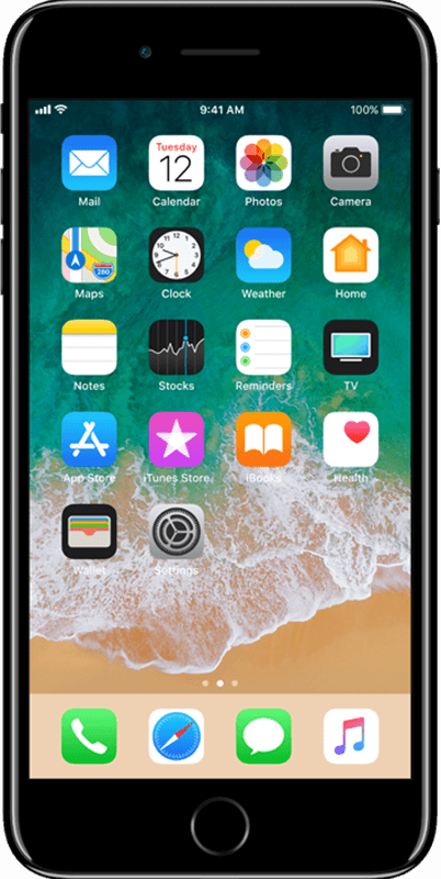 Apple iPhone 7 Plus - Jet Black - Medium