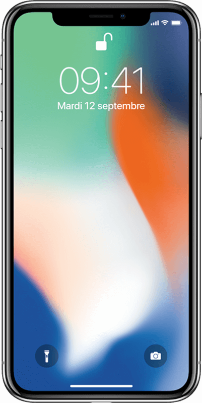 Apple iPhone X - Argent - Moyenne