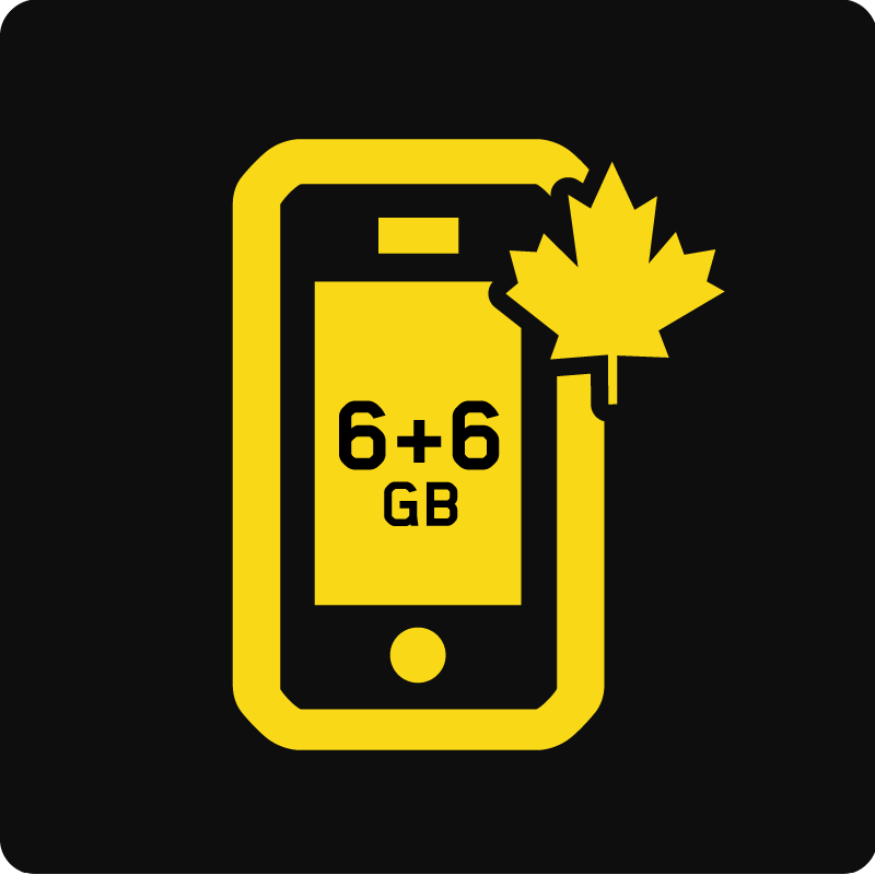 Forfait Mobile Affaires Canada 12 Go - Medium