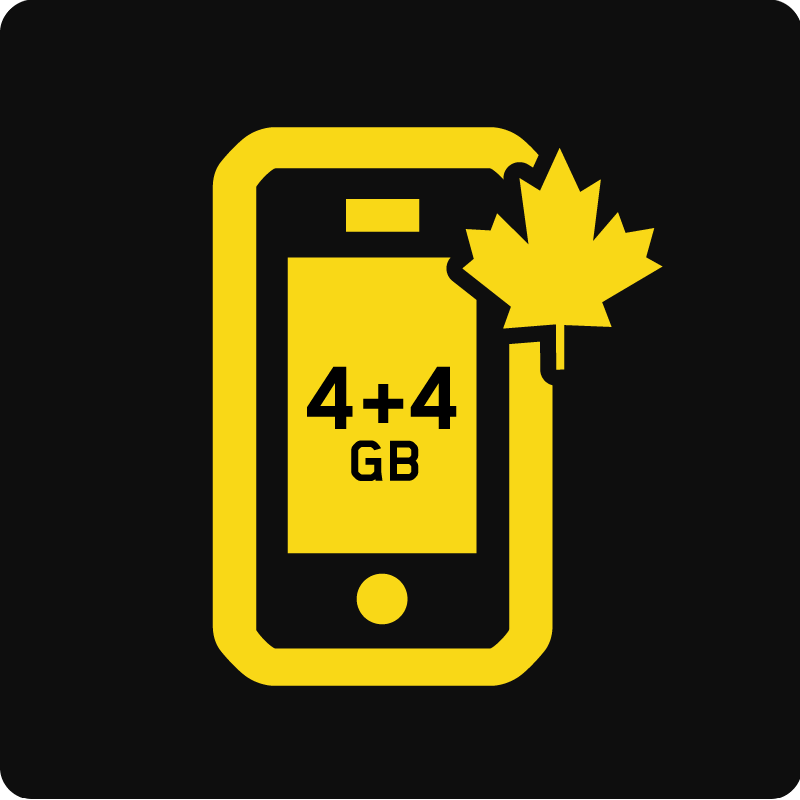 Forfait Mobile Affaires Canada 8 Go - Medium