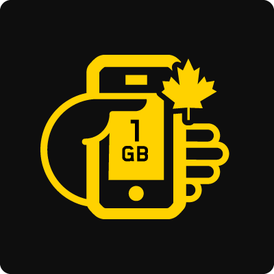 Canada 1GB Business Mobile plan - Small