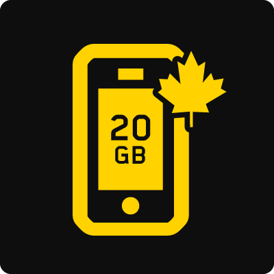 Canada 20GB Business Mobile plan - Small