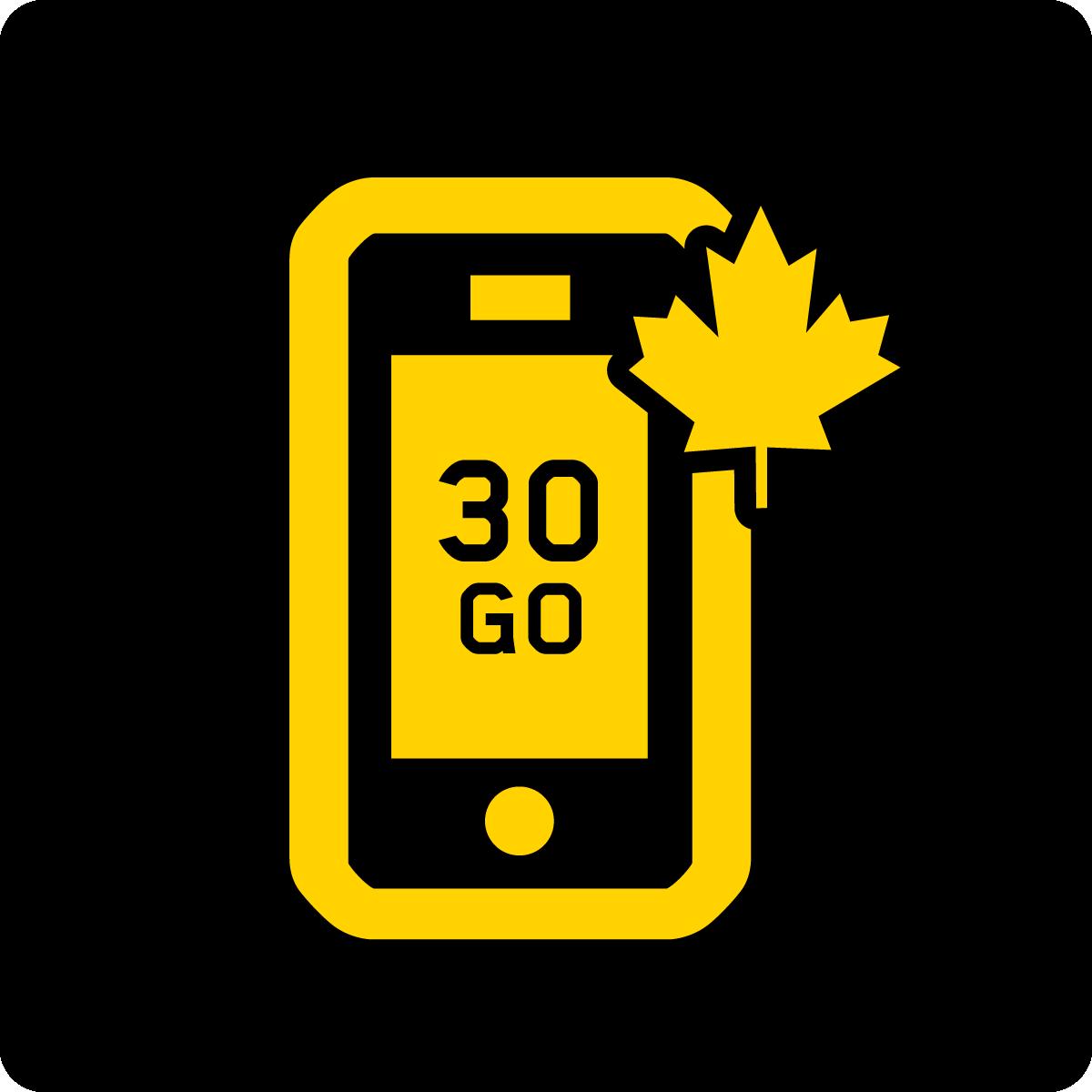 Forfait Mobile Affaires Canada 30Go