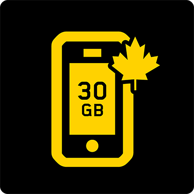 Canada 30GB Business Mobile plan - Icon