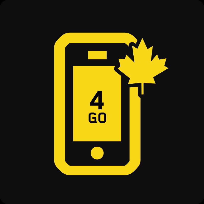 Forfait Mobile Affaires Canada 4 Go - Moyenne