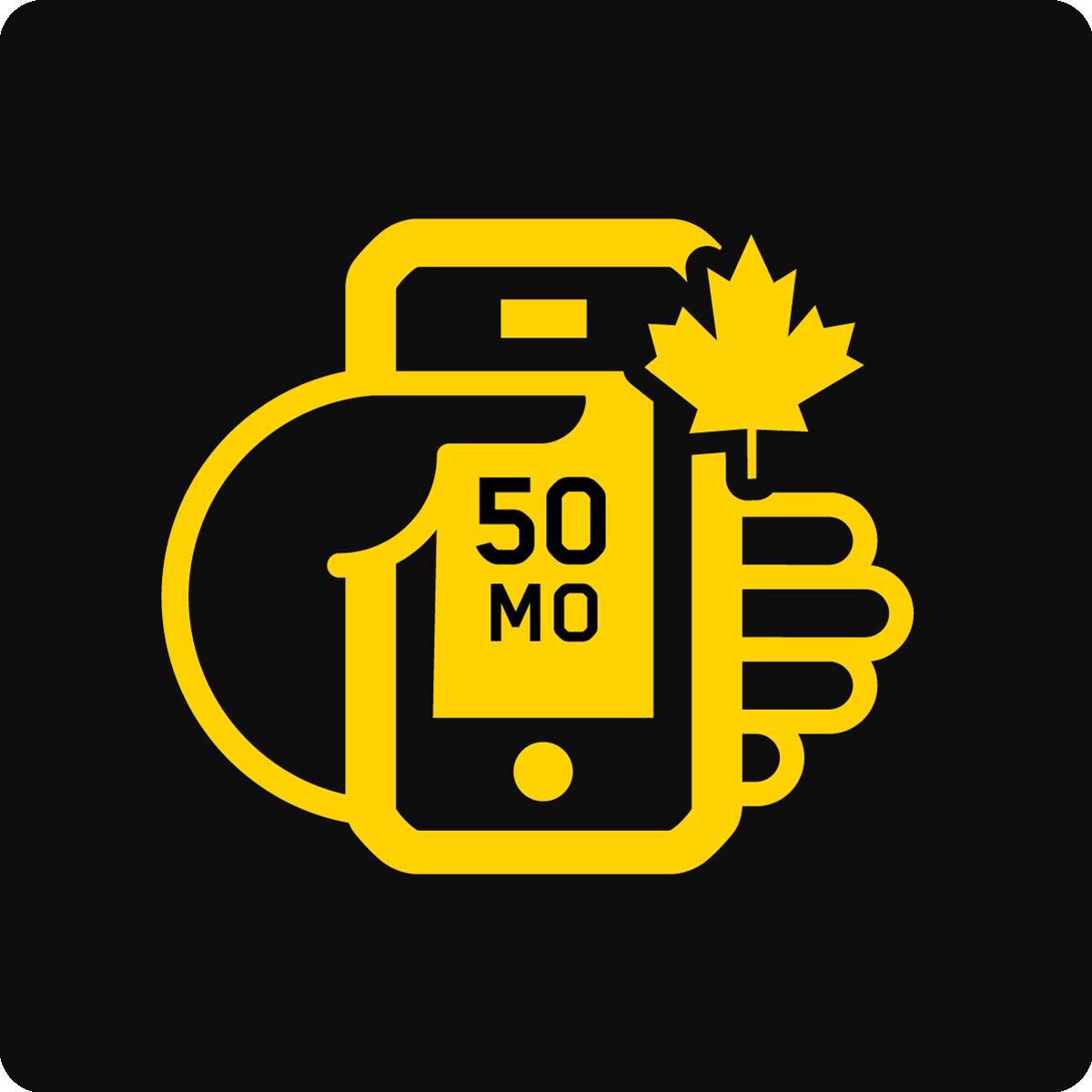 Forfait Mobile Apportez Votre Appareil Canada 50Mo