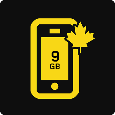 Canada 9 GB Business Mobile plan - Small