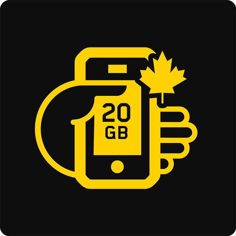 Canada 20GB Bring Your Own Device Mobile plan - Medium