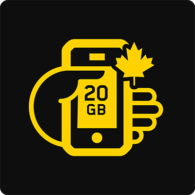 Canada 20GB Bring Your Own Device Mobile plan - Small