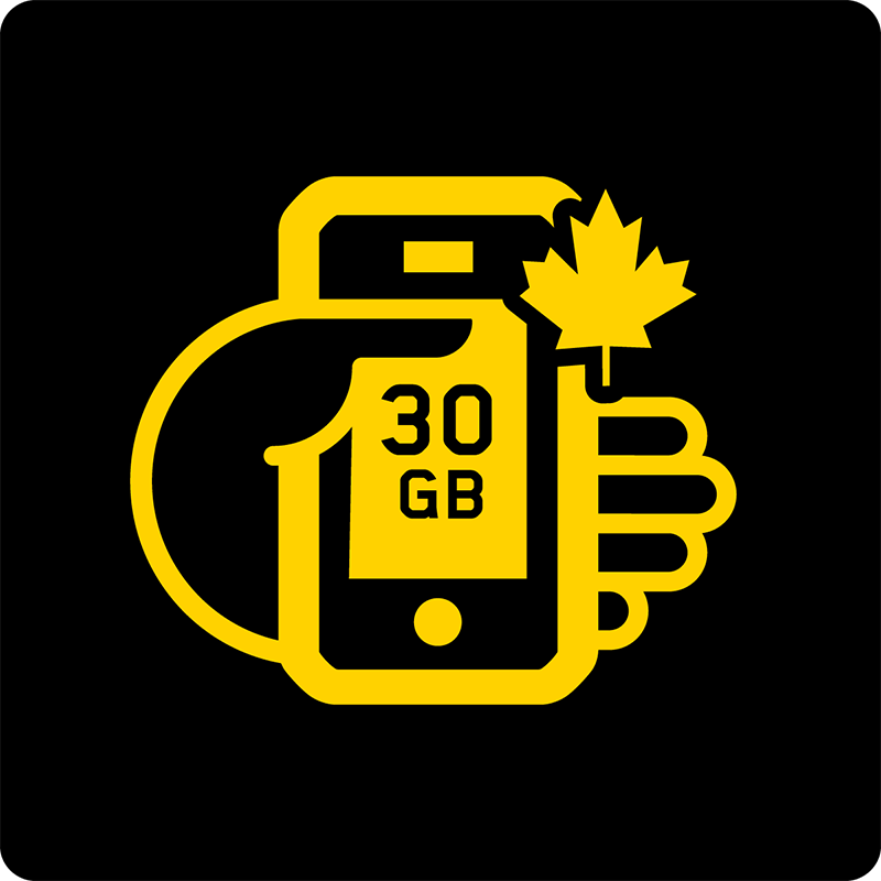 Canada 30GB Bring Your Own Device Mobile plan - Medium
