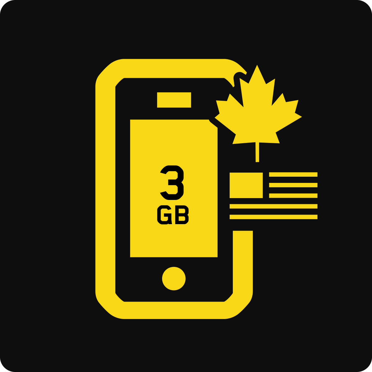 Canada-US 3GB Business Mobile plan