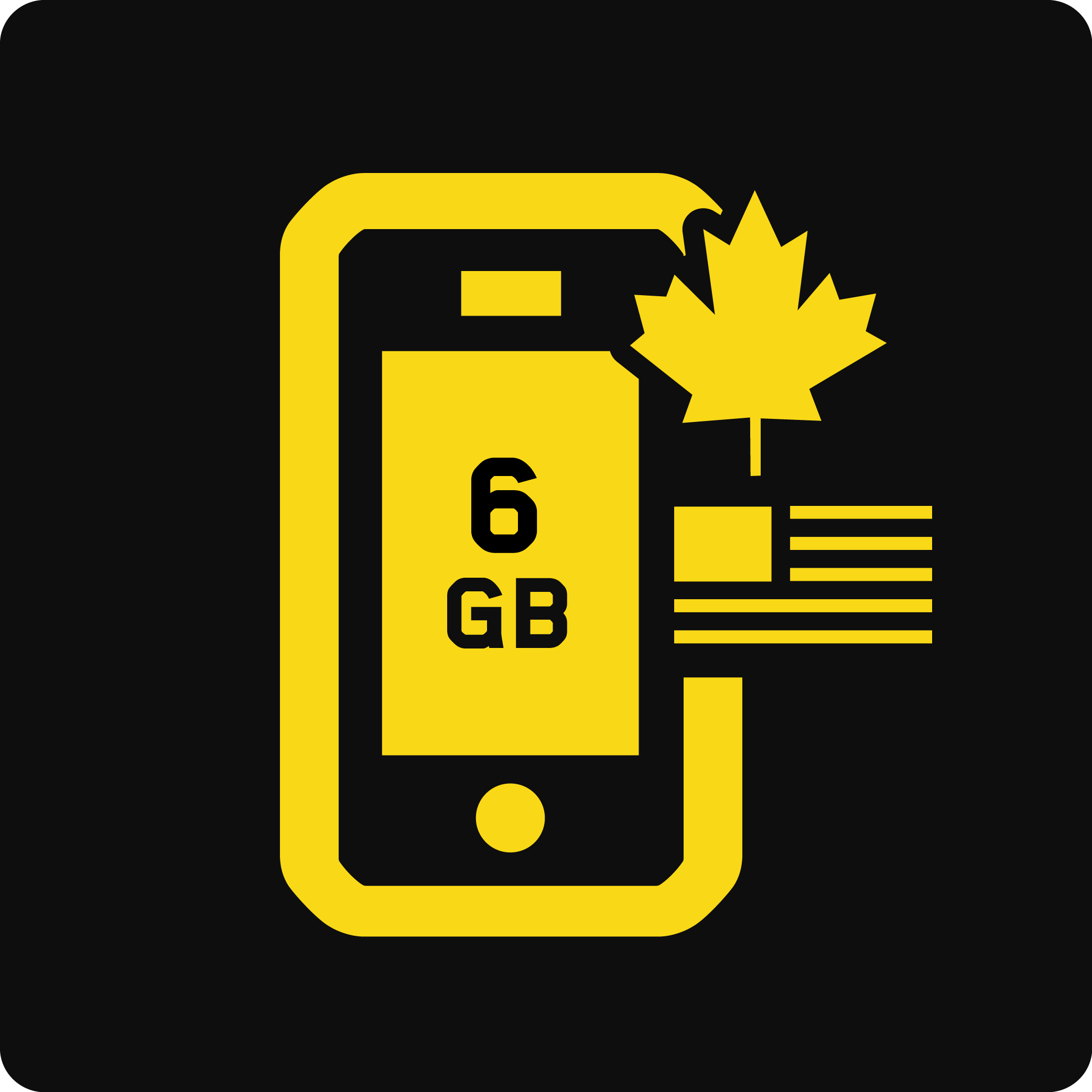Canada-US 6GB Business Mobile plan