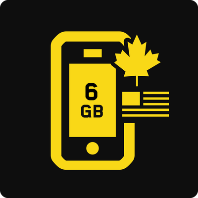 Canada-US 6GB Business Mobile plan - Small