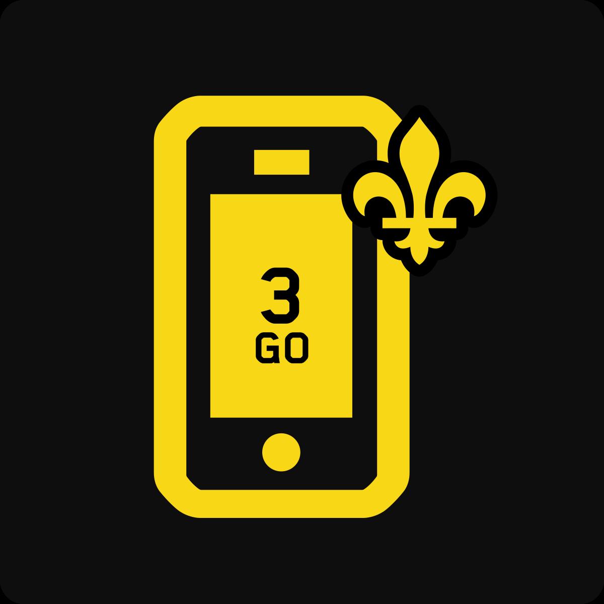 Forfait Mobile Affaires Québec 3Go