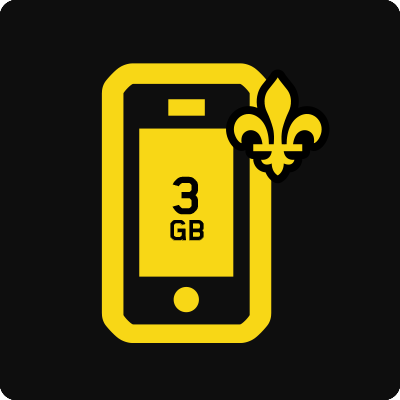 Quebec 3GB Business Mobile plan - Small