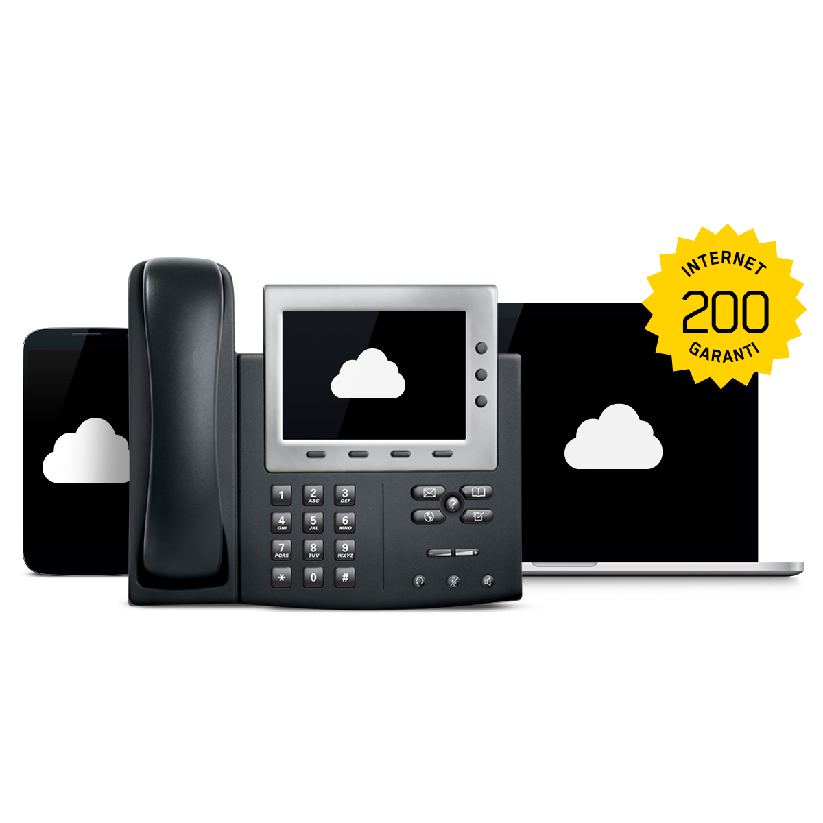 INTERNET GARANTI 200 + COMMUNICATIONS EN NUAGE