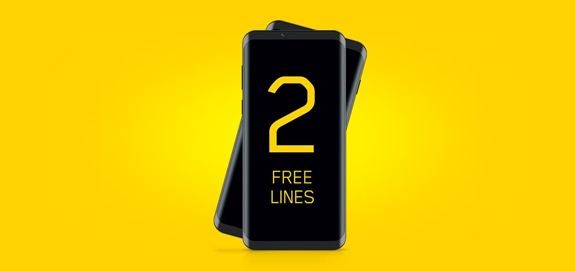 Get 2 free mobile lines