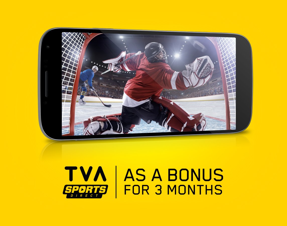 TVA SPORTS DIRECT as a bonus for 3 months