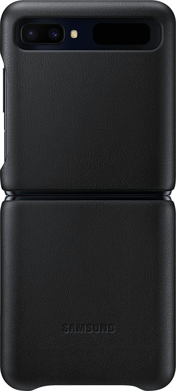 Étui Samsung Galaxy Z Flip Samsung Leather Cover Noir - Moyenne