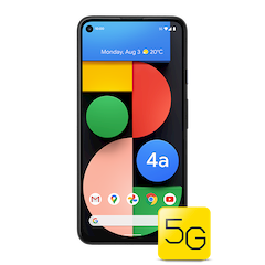 Google Pixel 4a with 5G - Just Black - 640